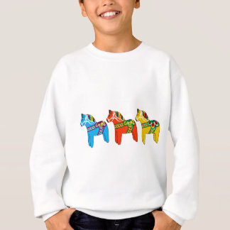 Swedish Dala Horses Sweatshirt