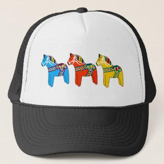 Swedish Dala Horses Trucker Hat