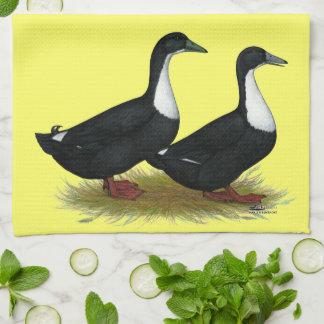 Swedish Ducks Black Tea Towel