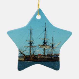 Swedish East Indiaman Ceramic Star Decoration