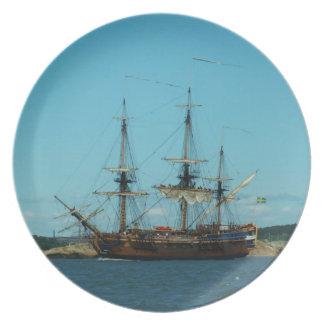Swedish East Indiaman Plate