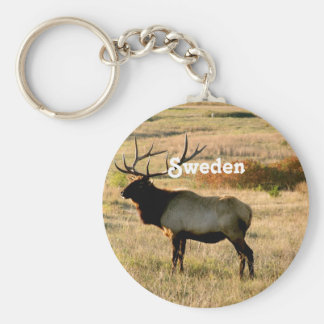 Swedish Elk Basic Round Button Key Ring