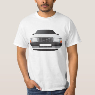 Swedish family car from 80's, white tshirt