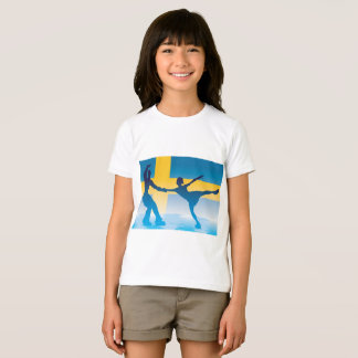 Swedish Figure Skaters Girls T-Shirt