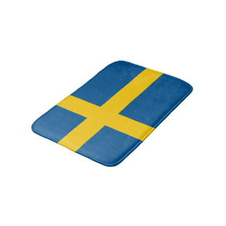 Swedish flag bath mat   Sweden bathroom rug Bath Mats