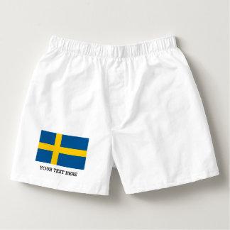Swedish flag boxer shorts underwear for men boxers