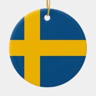 Swedish Flag Christmas Ornament