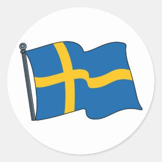Swedish Flag Classic Round Sticker