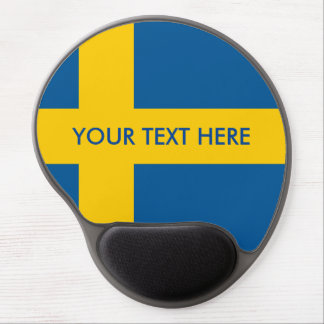 Swedish flag custom gel mouse pad
