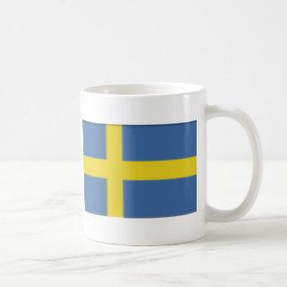 Swedish flag design basic white mug