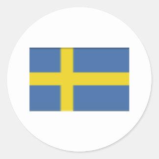 Swedish flag design classic round sticker