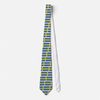 Swedish flag design tie