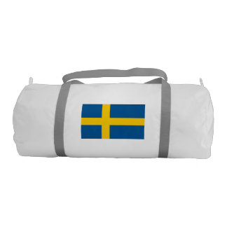 Swedish Flag Duffle Gym Bag Gym Duffel Bag