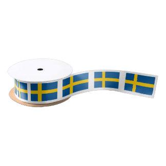 Swedish flag gift ribbon for Sweden theme party Satin Ribbon