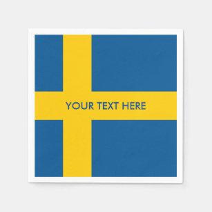 Swedish flag of Sweden custom party napkins Disposable Serviette