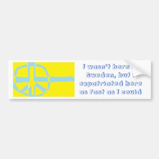 Swedish Flag Peace Symbol Bumper Sticker