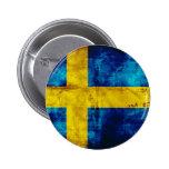 Swedish Flag Pinback Button