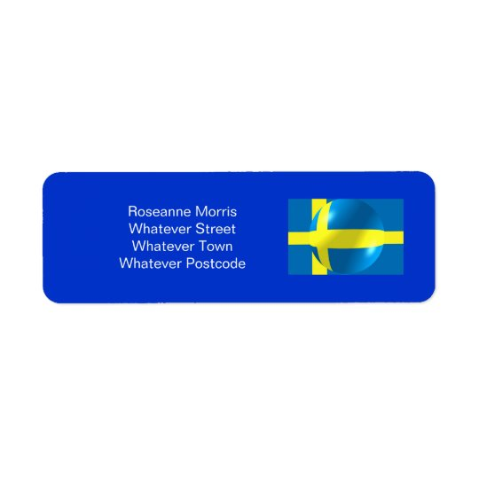 Swedish Flag Return Address Label