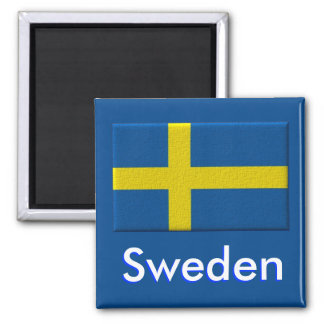 Swedish Flag Scandinavian Square Magnet