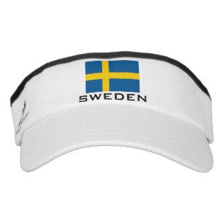 Swedish flag sports sun visor cap hat