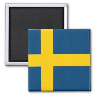 Swedish Flag Square Magnet