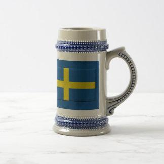 Swedish Flag Stein Coffee Mug