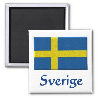 Swedish Flag  Sverige Square Magnet