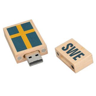Swedish flag USB pendrive flash drive for Sweden Wood USB 2.0 Flash Drive