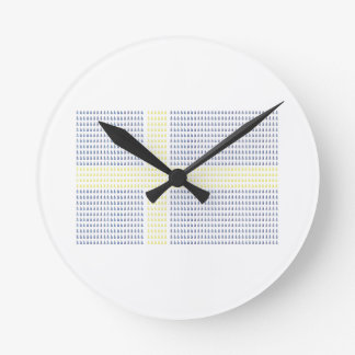 Swedish Flag w å - Clock