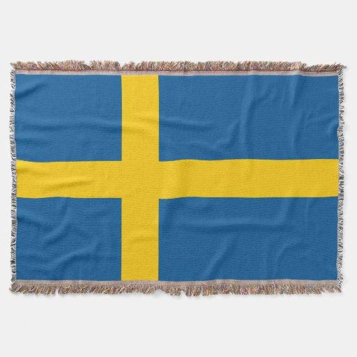 Swedish flag woven throw blanket | Sweden pride