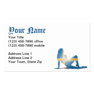 Swedish Girl Silhouette Flag Pack Of Standard Business Cards