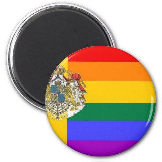 Swedish GLBT Pride Flag 6 Cm Round Magnet
