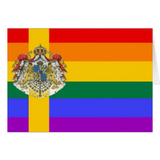 Swedish GLBT Pride Flag Greeting Card