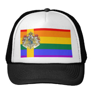 Swedish GLBT Pride Flag Mesh Hat
