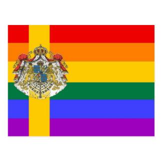 Swedish GLBT Pride Flag Postcard