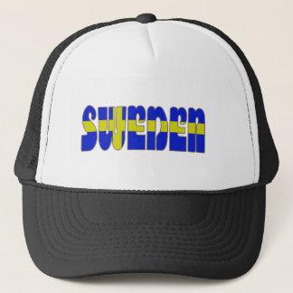 Swedish glossy flag trucker hat