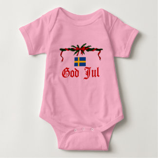 Swedish God Jul (Merry Christmas) Baby Bodysuit