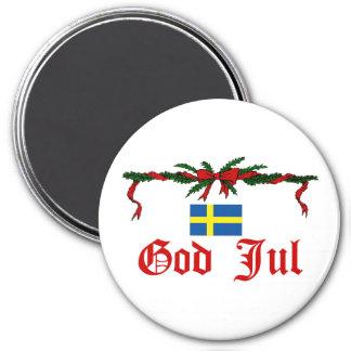 Swedish God Jul (Merry Christmas) Magnet