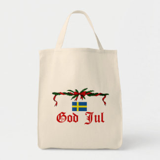 Swedish God Jul (Merry Christmas) Tote Bag