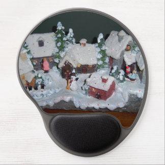 Swedish Holiday Winter Scene Gel Mouse Pad