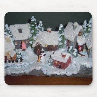 Swedish Holiday Winter Scene Mousepads