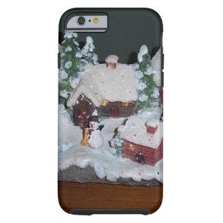 Swedish Holiday Winter Scene Tough iPhone 6 Case