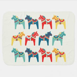 Swedish Horses Baby Blanket