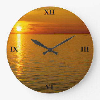 Swedish Islands Sunset Large Clock