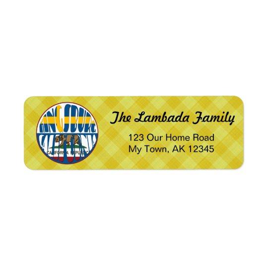 Swedish Kingsburg California Address Labels