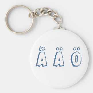 Swedish letters (å ä ö) key ring