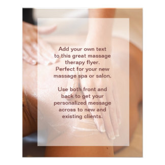 Swedish Massage Photo 11.5 Cm X 14 Cm Flyer