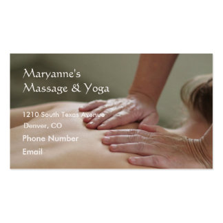 Swedish Massage Photo - Back Double-Sided Standard Business Cards (Pack Of 100)