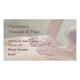 Swedish Massage Photo - Back (screened back photo) Pack Of Standard Business Cards