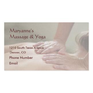 Swedish Massage Photo - Back (screened back photo) Pack Of Standard Business Cards